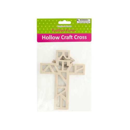 Hollow Wooden Craft Crosses Set ( Case of 40 )