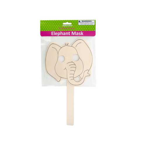 Wooden Craft Elephant Mask ( Case of 20 )