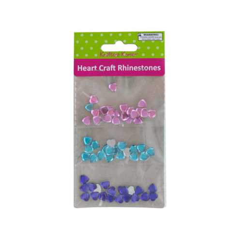 Faceted Heart Craft Rhinestones ( Case of 20 )