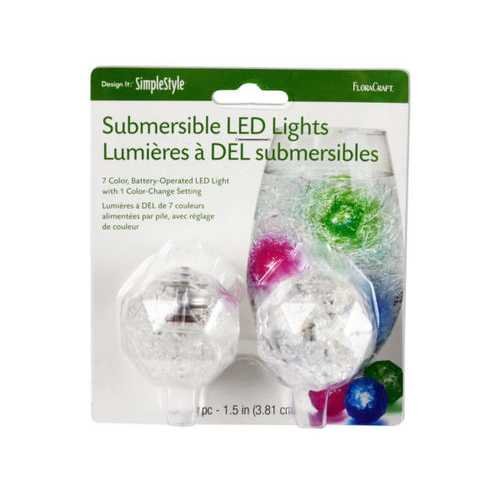 2 Pack Submersible 7 Color LED Lights ( Case of 24 )