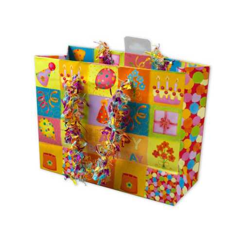 Small Happy Birthday Giftbag with Confetti Handles ( Case of 24 )