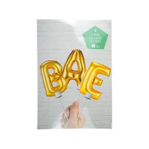"""""""Bae"""" Balloon Cake Topper ( Case of 72 )"""