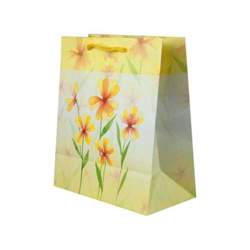 Yellow Flowers Medium Gift Bag ( Case of 24 )