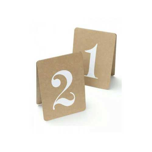 Rustic Table Numbers 1-12 ( Case of 24 )
