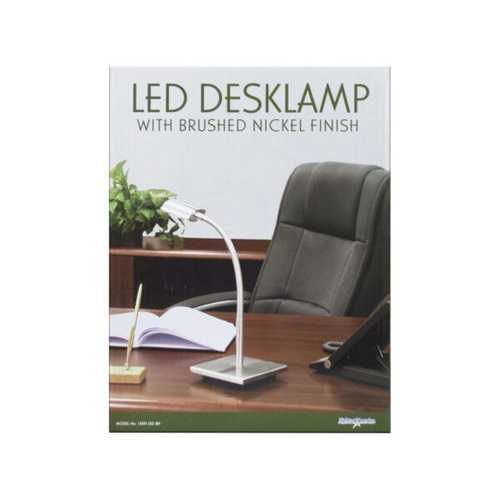 40 Watt LED Desklamp with Brushed Nickel Finish ( Case of 1 )