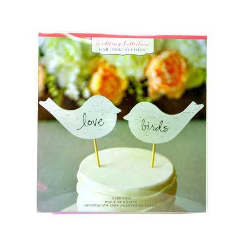 Birch Love Birds Cake Topper ( Case of 48 )