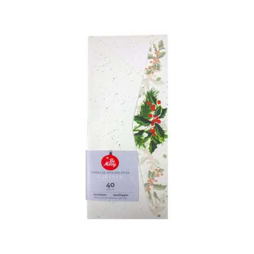 40 Count Holly Envelopes ( Case of 36 )