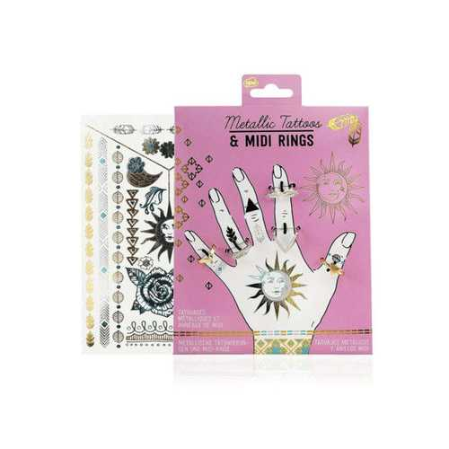 Metallic Tattoos and Rings ( Case of 48 )