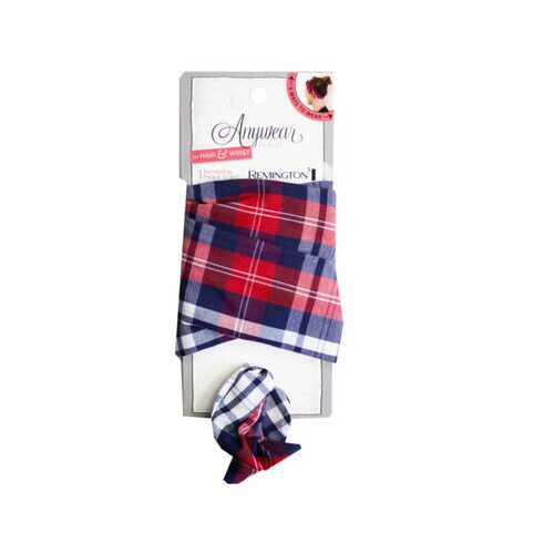 1 Count Wire Head Scarf in Assorted Plaid ( Case of 40 )