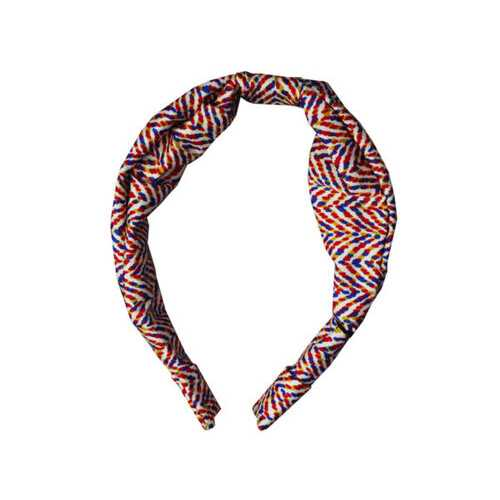 1 count wide head band in black and red assorted colors ( Case of 18 )