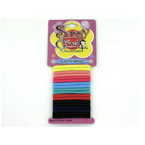 Colored Elastic Hair Bands ( Case of 48 )
