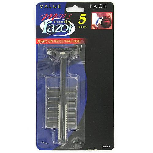 Men's Disposable Razor with Extra Blades ( Case of 48 )