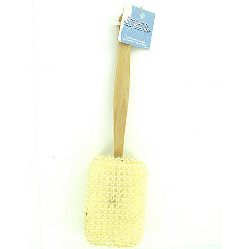 Exfoliating Backwasher with Wooden Handle ( Case of 24 )