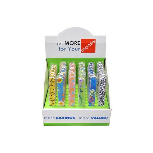 Stylish & Fun Nail Files Countertop Display ( Case of 48 )
