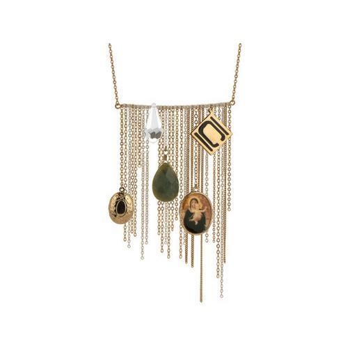 Nikki Chu Gold Tone Opera Length Tassle Necklace ( Case of 1 )