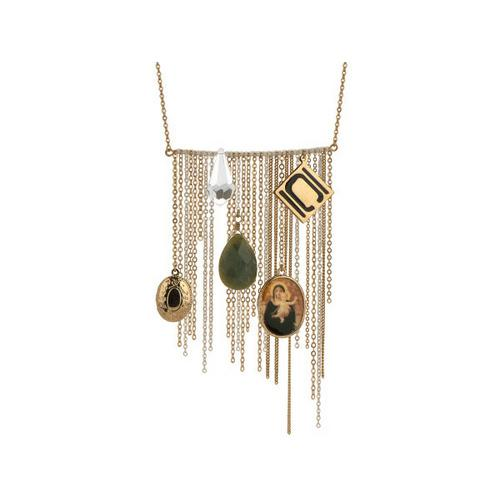 Nikki Chu Gold Tone Opera Length Tassle Necklace ( Case of 3 )