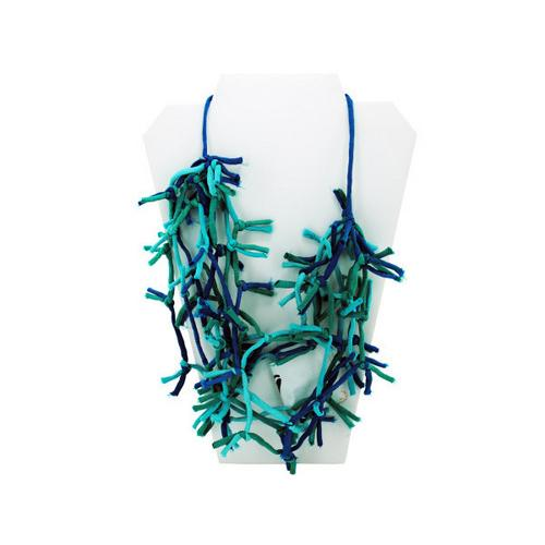 Turquoise Knotted Necklace ( Case of 12 )