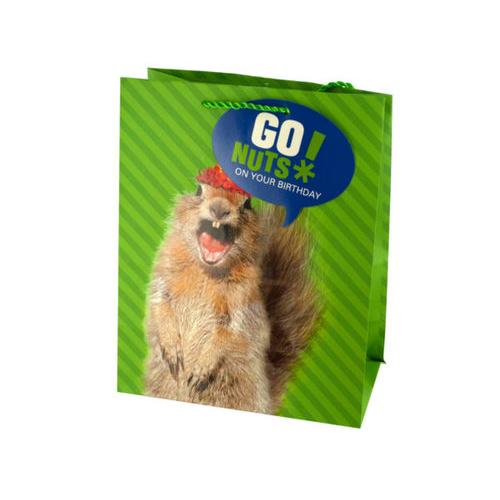 Medium Squirrel Birthday Gift Bag ( Case of 108 )