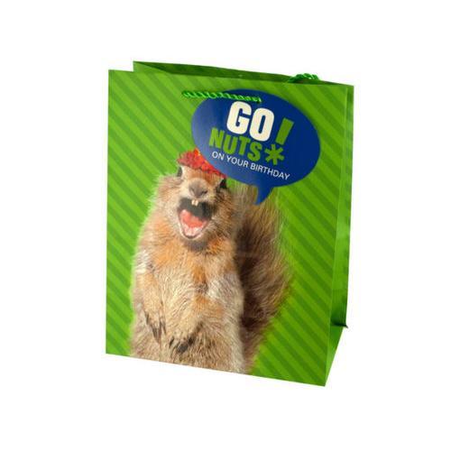 Medium Squirrel Birthday Gift Bag ( Case of 36 )