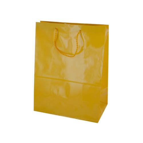 Large Solid Yellow Gift Bag ( Case of 36 )