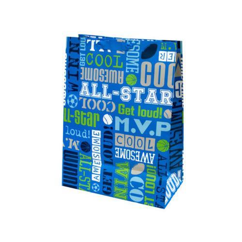 Boys Sports Words Mega Gift Bag ( Case of 24 )