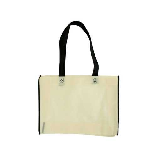 Black & Natural Small Lightweight Shopping Tote ( Case of 30 )