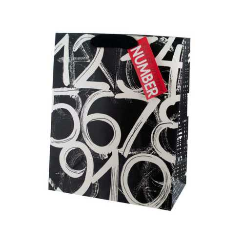 Birthday Numbers Large Gift Bag ( Case of 60 )