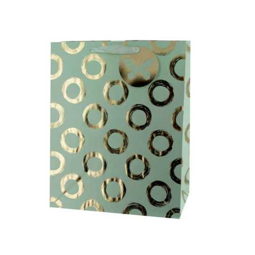 Gold Foil Circles Large Gift Bag ( Case of 60 )