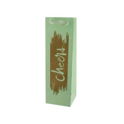 Cheers Gold Foil Bottle Gift Bag ( Case of 48 )