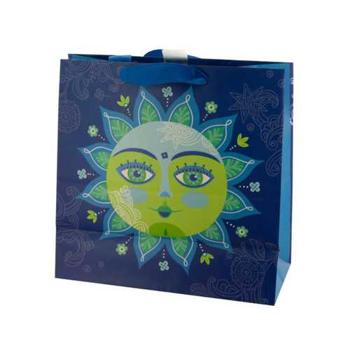 Decorative Sun Large Square Gift Bag ( Case of 20 )