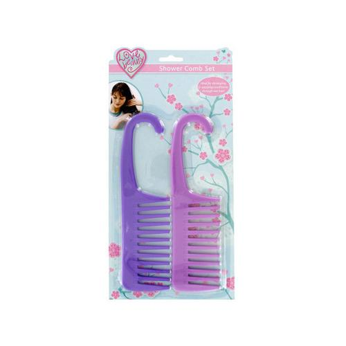 Shower Conditioner Comb with Hook ( Case of 48 )
