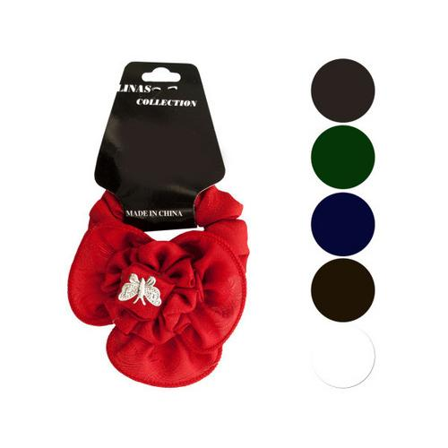 Large Butterfly & Ruffle Accent Hair Twister ( Case of 72 )