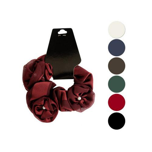 Pearl Accents Chiffon Hair Twister ( Case of 24 )
