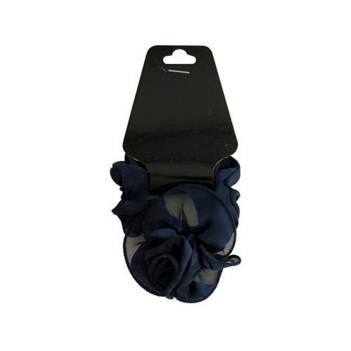 Satiny Hair Twister with Ruffle Rose Accent ( Case of 24 )