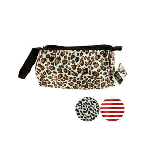 Stylish Cosmetic Bag with Carrying Strap ( Case of 12 )