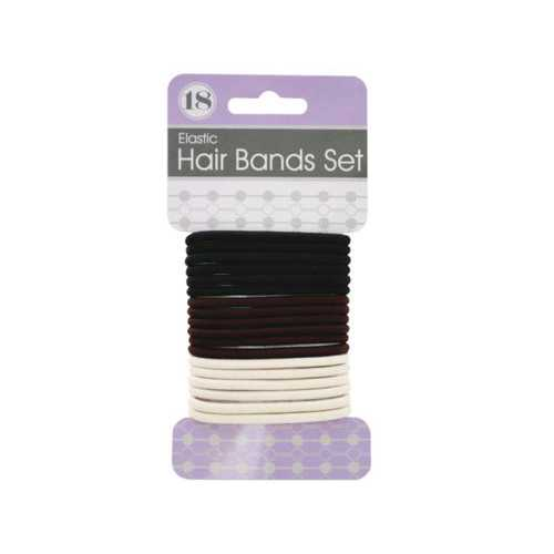 Basic Colors Hair Bands Set ( Case of 72 )