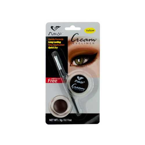 Yellow Cream Eyeliner with Brush ( Case of 48 )