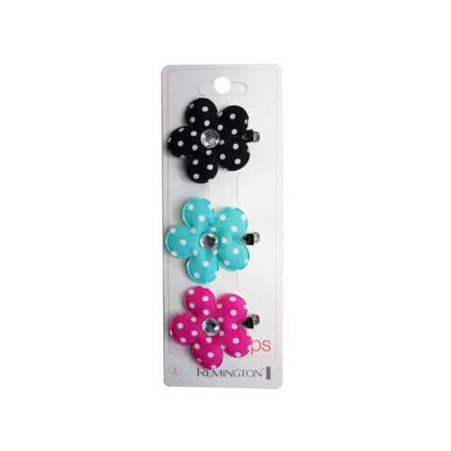 3 Count Flower Salon Clips with Gems ( Case of 20 )