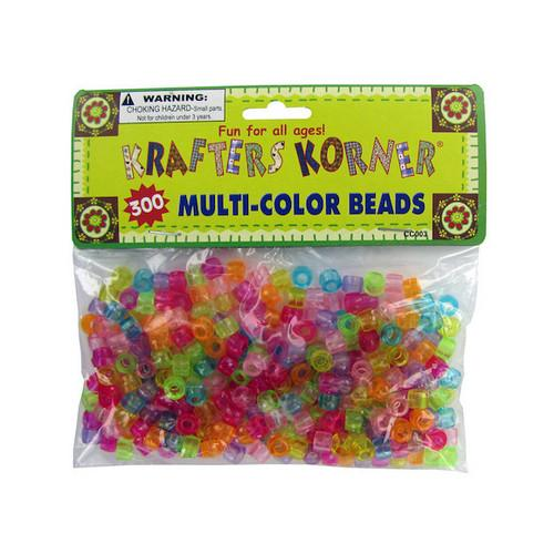 Multi-Color Crafting Pony Beads ( Case of 24 )