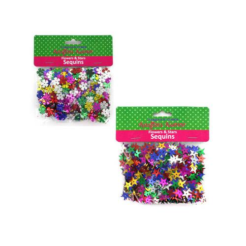 Flowers & Stars Sequins ( Case of 12 )
