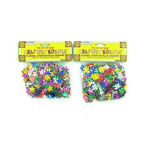 Flowers & Stars Sequins ( Case of 24 )