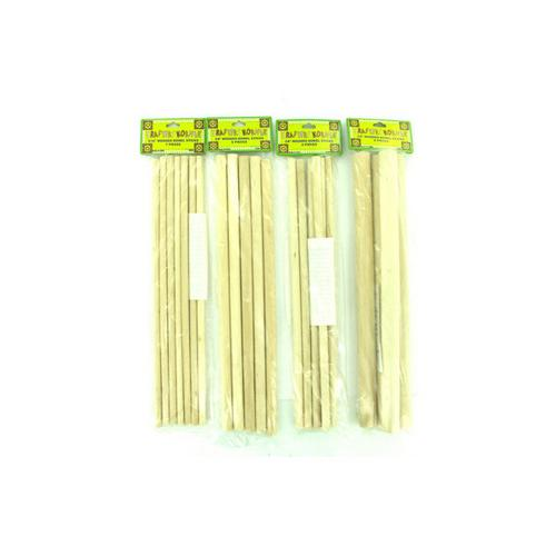 Wooden Dowel Craft Sticks ( Case of 12 )