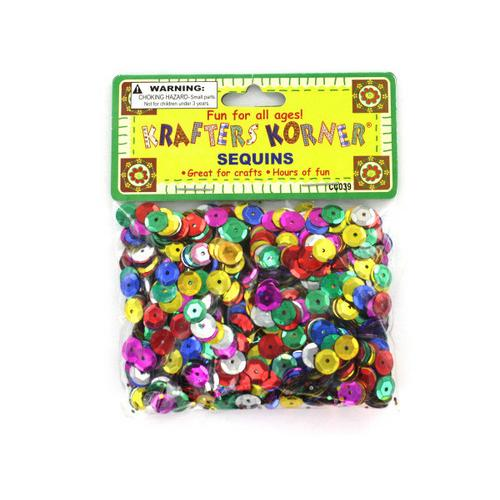 Round Colored Sequins ( Case of 48 )