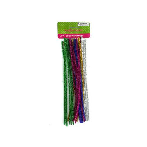Glitter Craft Stems ( Case of 24 )