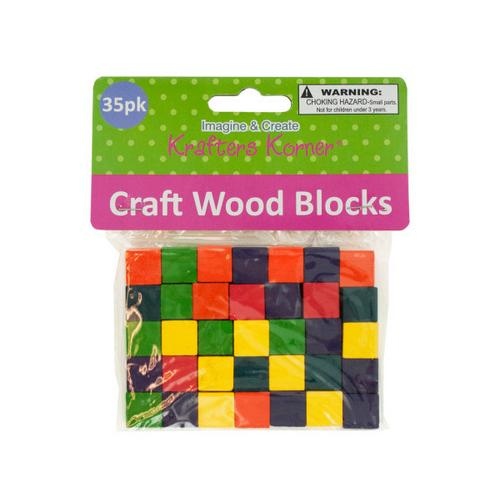 Colored Wooden Craft Blocks ( Case of 24 )