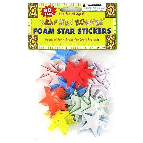 Foam Star Stickers ( Case of 24 )