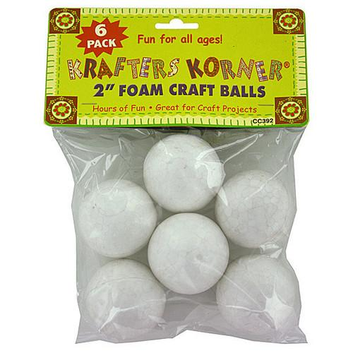 Large Foam Craft Balls ( Case of 24 )