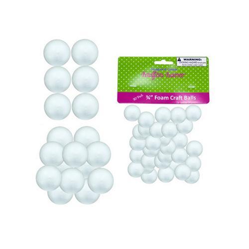 Small Foam Craft Balls ( Case of 12 )