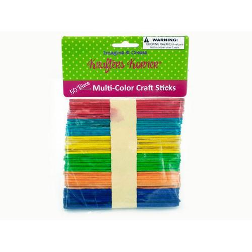Multi-Color Craft Sticks ( Case of 50 )