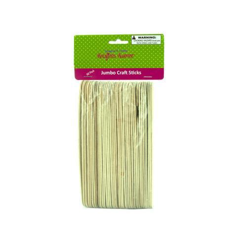 Jumbo Wood Craft Sticks ( Case of 50 )